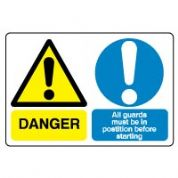 Multiple safety sign - All Guards Must 002